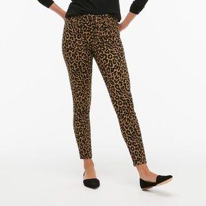 NWT J. CREW | Leopard High-Rise Skinny Jean Button